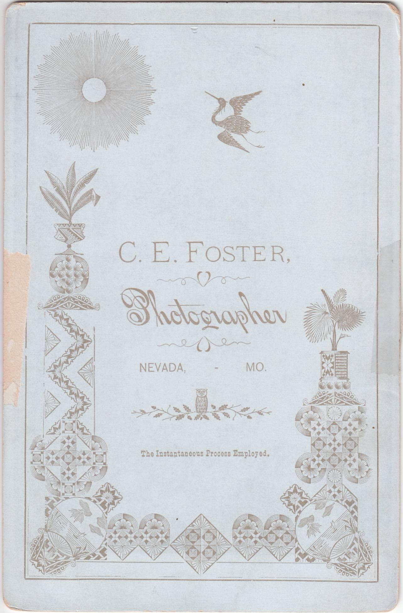 C. E. Foster of Nevada, Missouri