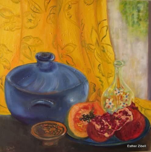 Still Life With Blue Pot