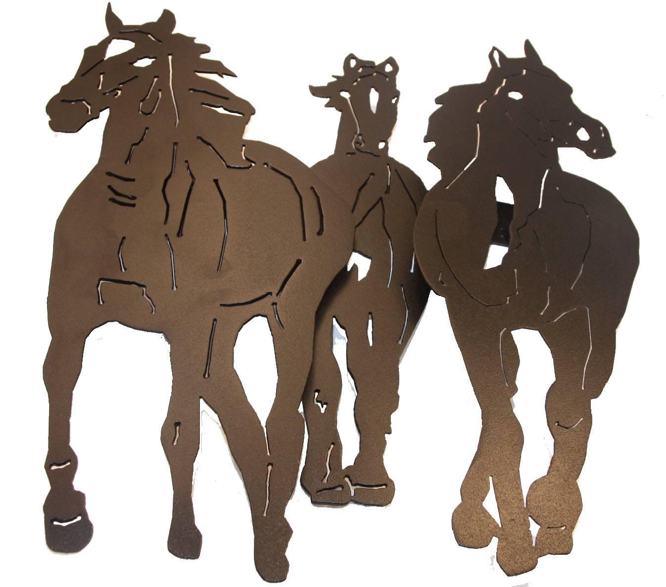 3 horse stampede
