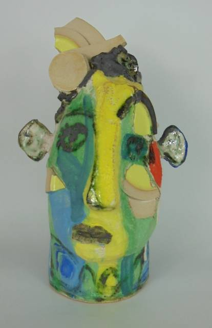 Mary Jones Ceramics. The brick thief.  SOLD