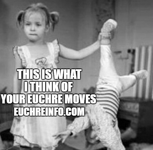 This is what I think of your Euchre moves.