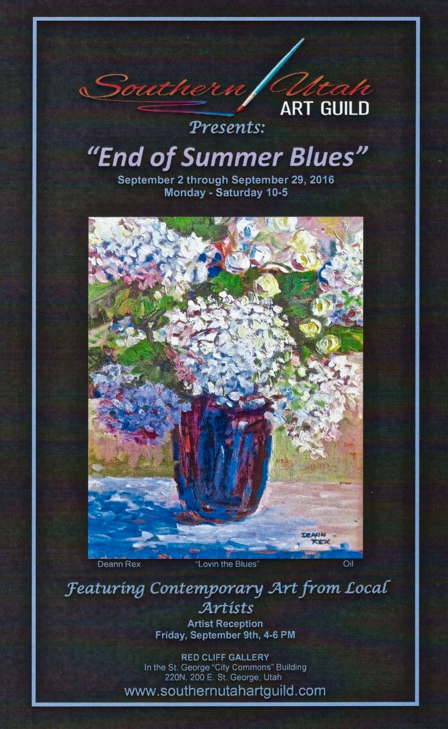End of Summer Blues Poster