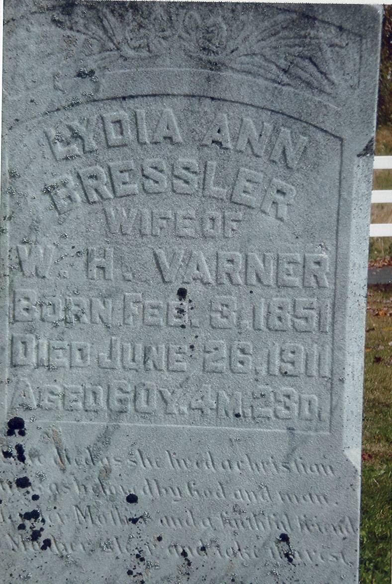 Lydia Ann (Bressler) Varner (1851-1911)