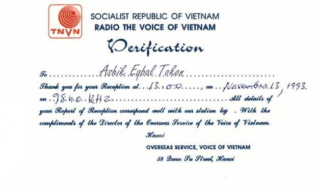 QSL VOV 1993