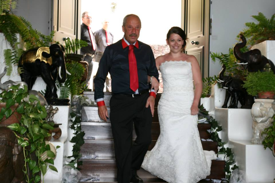 The bride and her proud dad