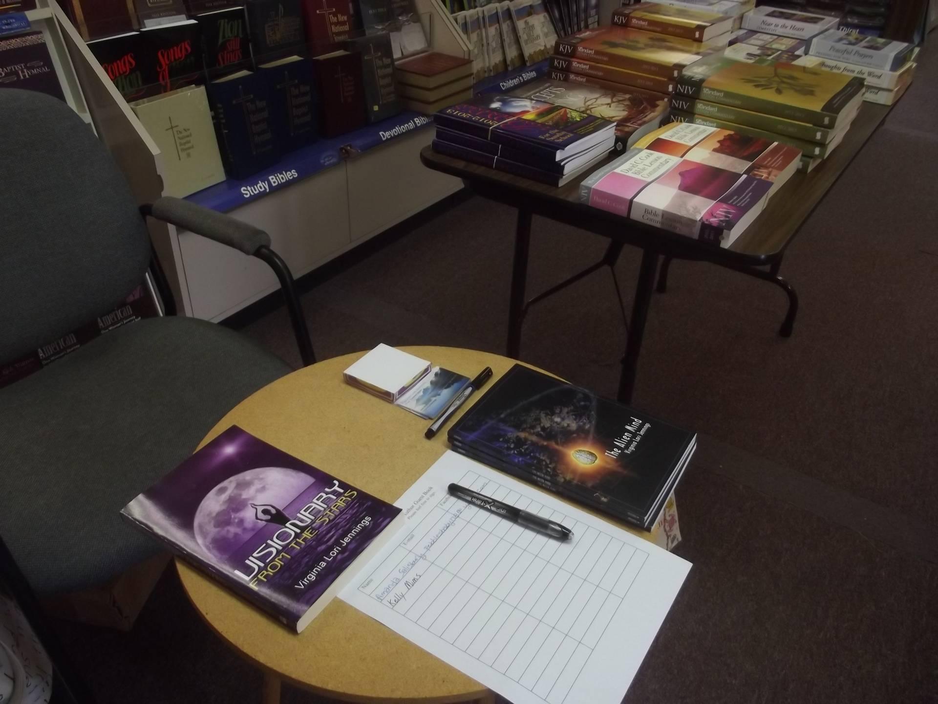 Virginia Jennings' booksigning