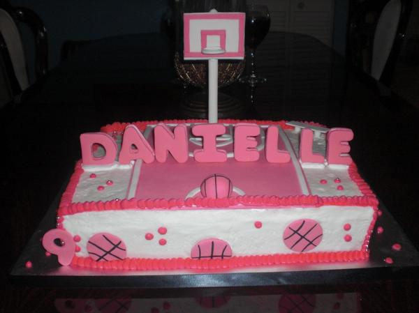 Girl's Basketball Birthday Cake