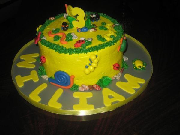 Bugs Themed Birthday Cake