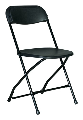 Black Plastic and Metal Foliding Chair