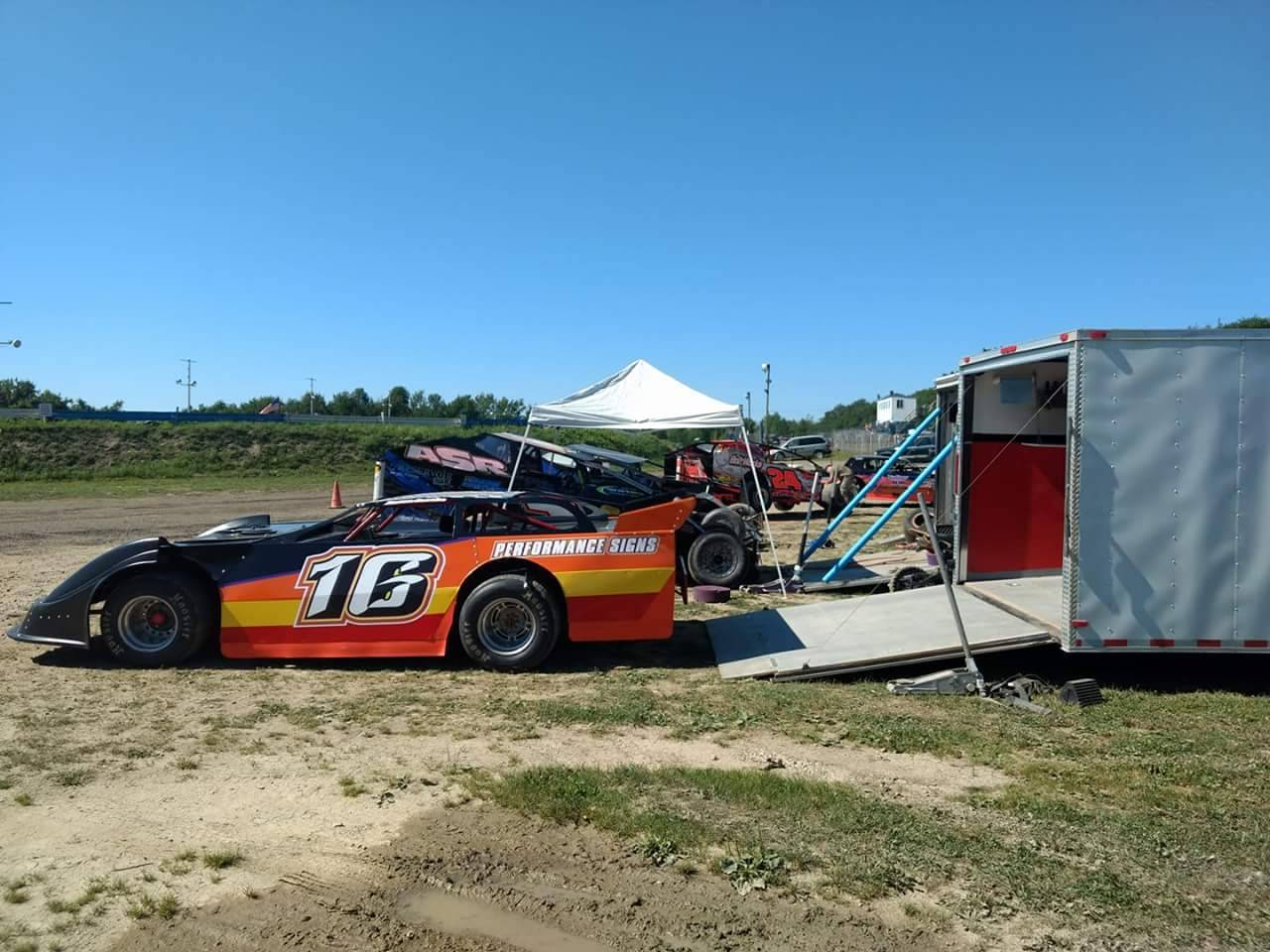 Late Model by trailer