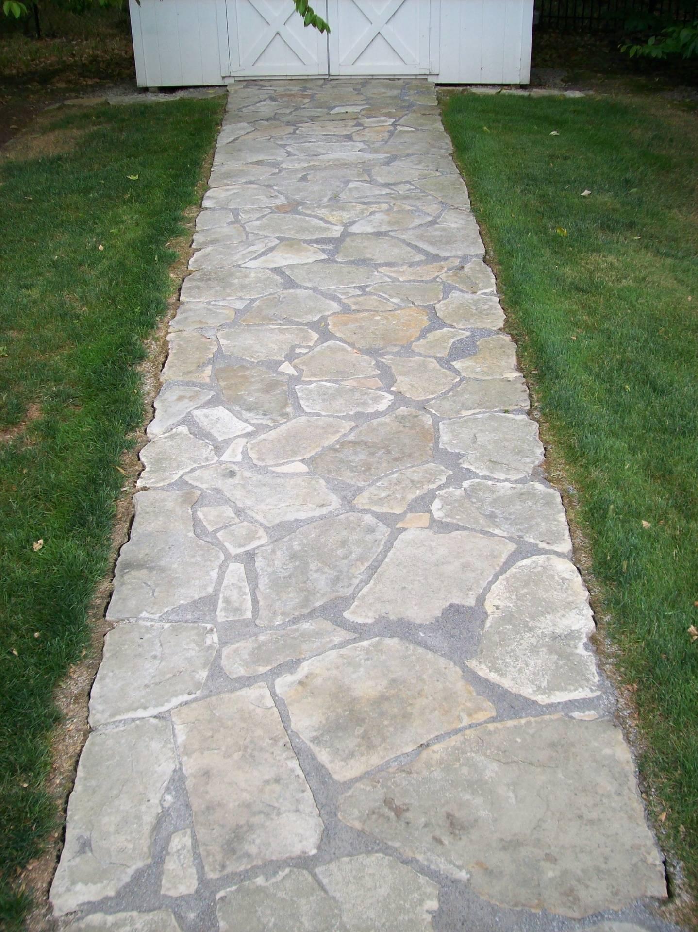 Sand Stone Walkway.
