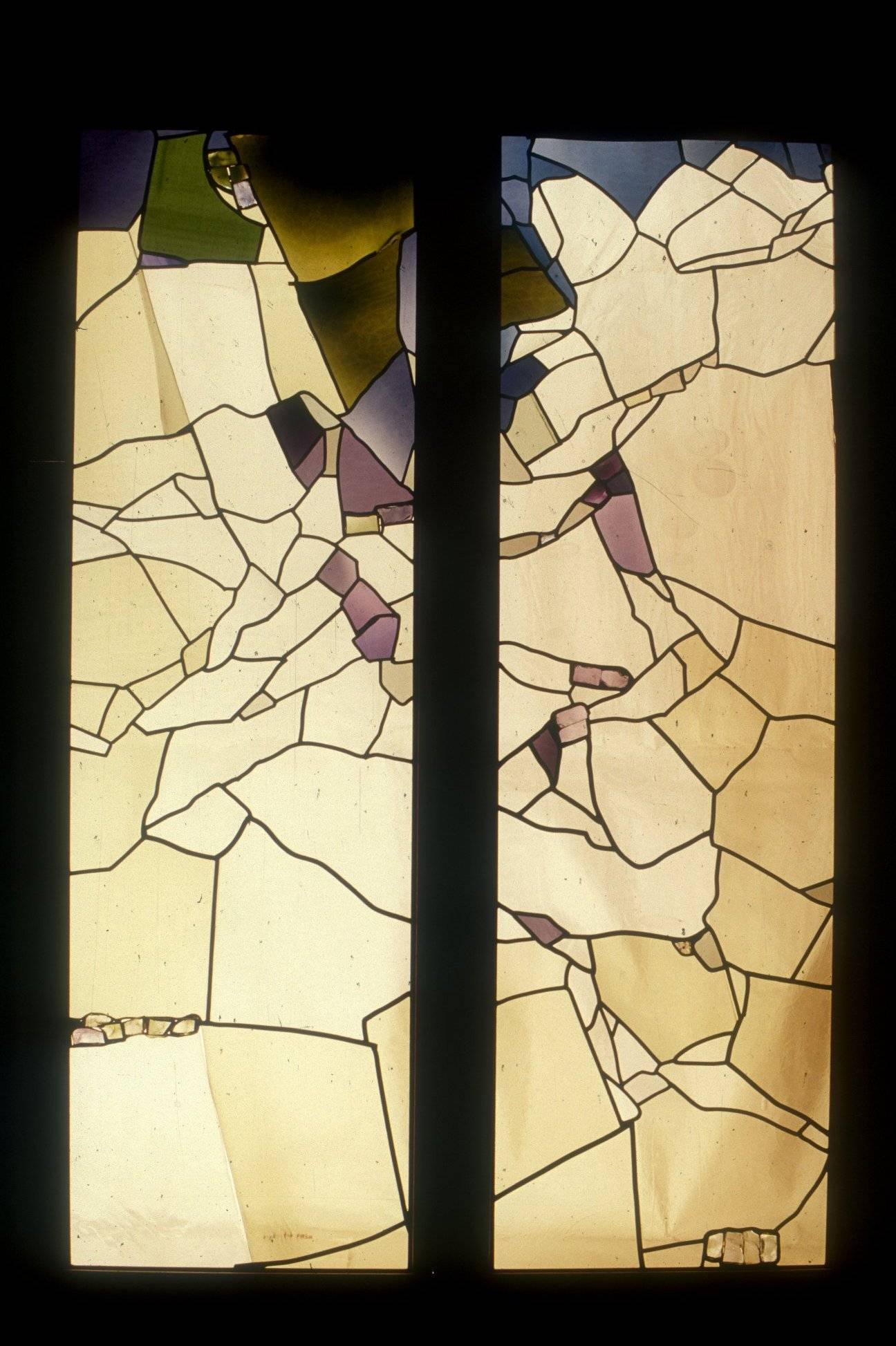 "Blossoms Falling-Free Form Collage, Pocket Door Panels 72"" McLean Va. 2000"