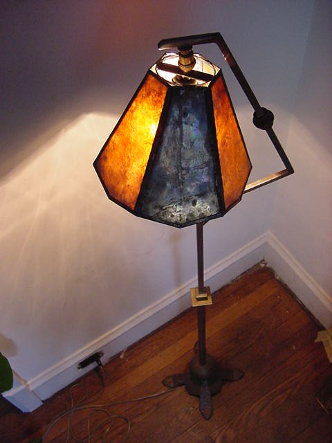 Arts & Crafts Mica Lamp circa  1920 - Restoration