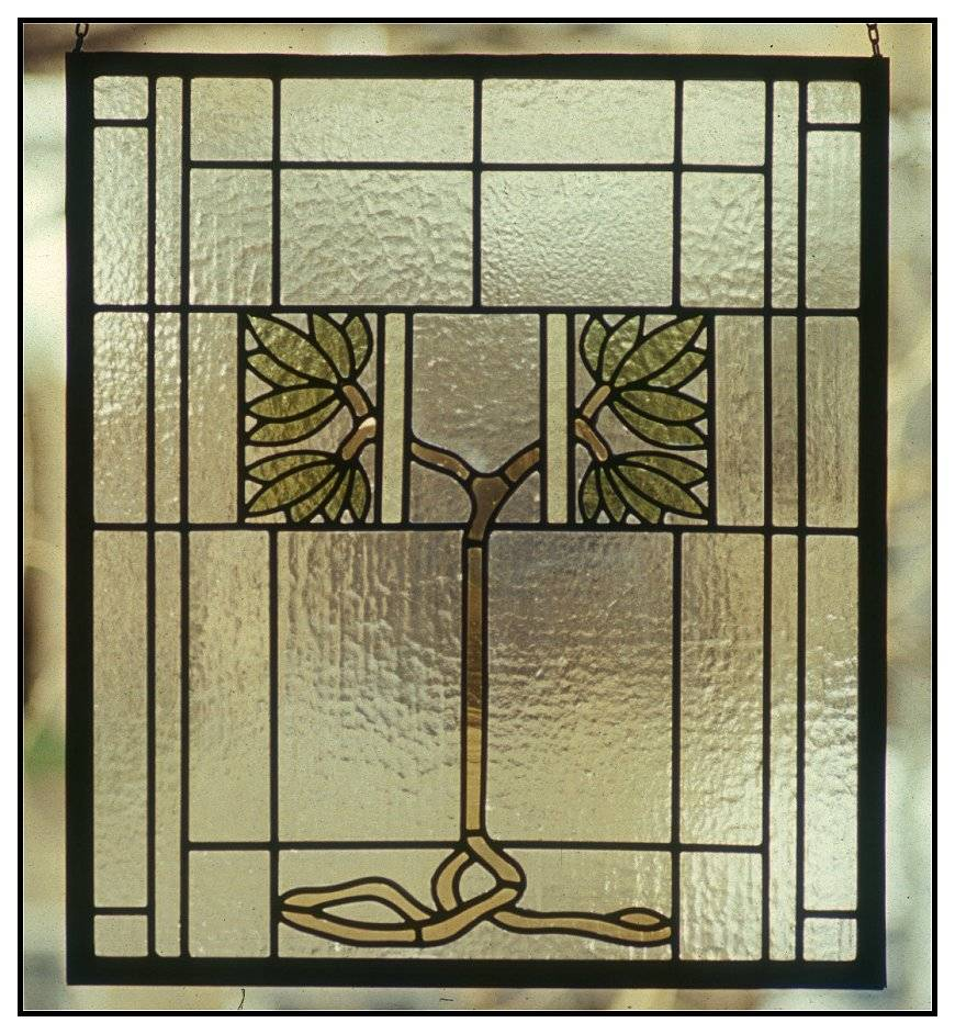 Arts and Crafts Library Window circa 1910 -  Restoration