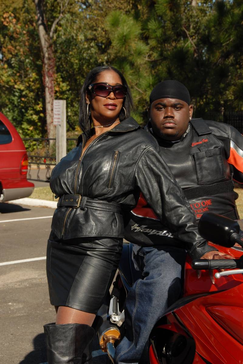Angela and another Mighty Biker