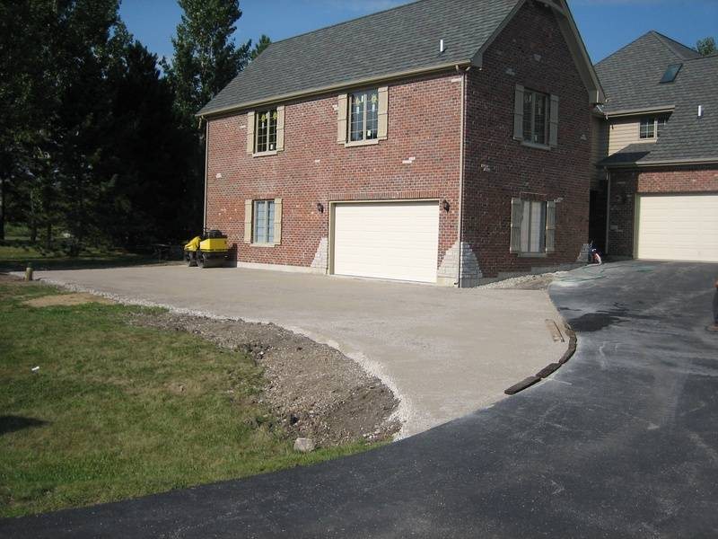 Driveway Addition For A New Garage - Prep Work (1 of 5)