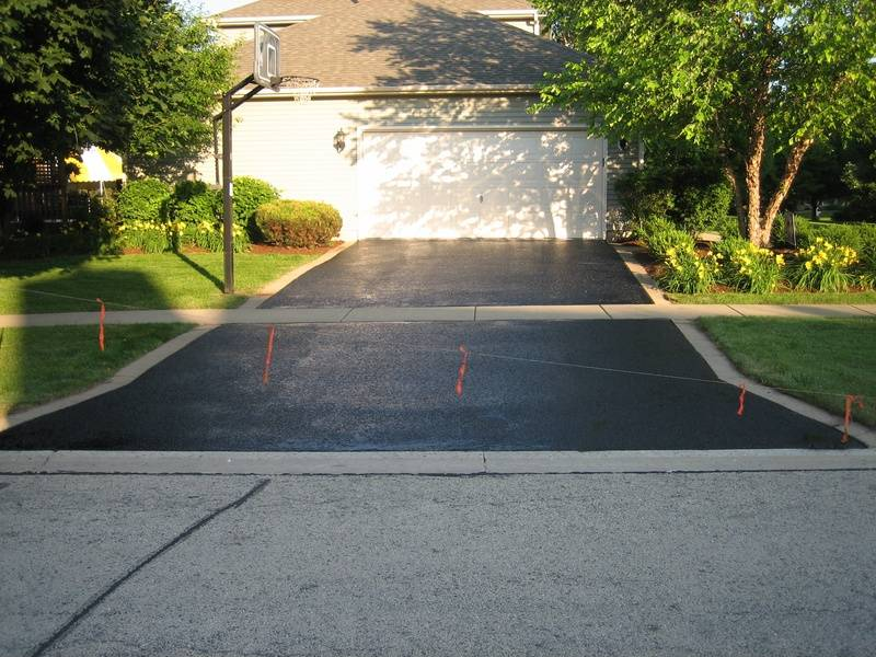 Driveway After Sealcoating (2 of 2)
