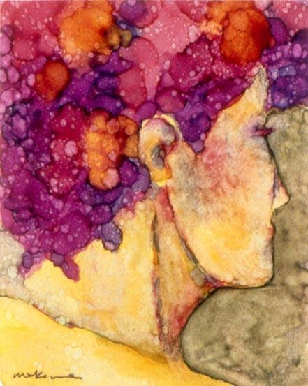 The Dancer, Oil Marker, 5x7, Original Sold