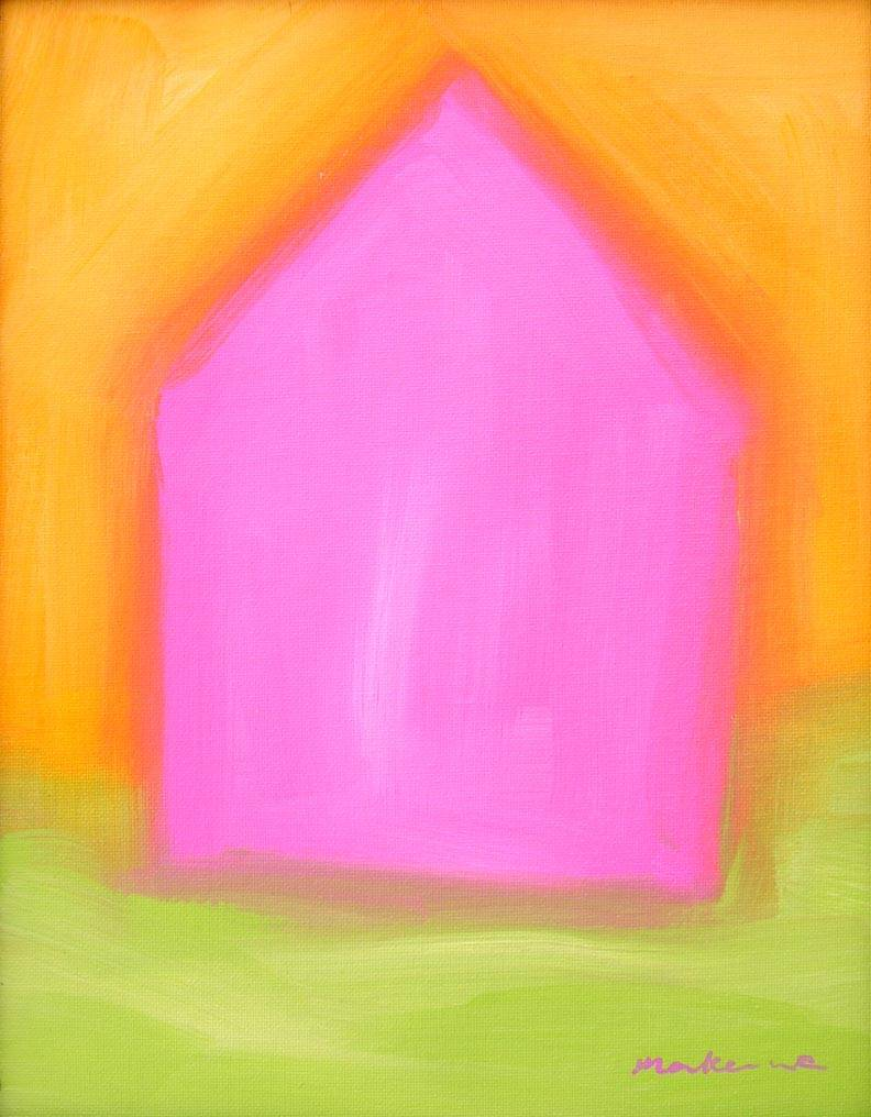 Little Pink House, Acrylic, 11x14, Original Available