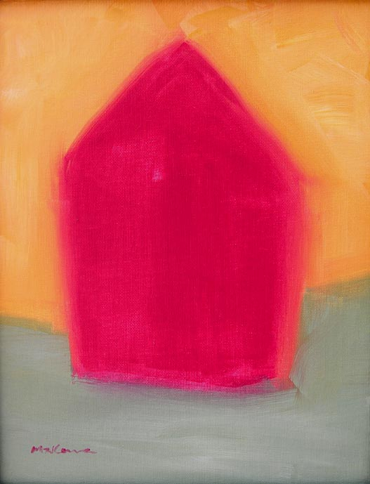 Little Red House, Acrylic, 11x14, Original Available