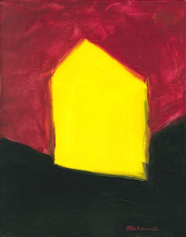Yellow ArtHouse, Acrylic, 11 x 14, Original Available