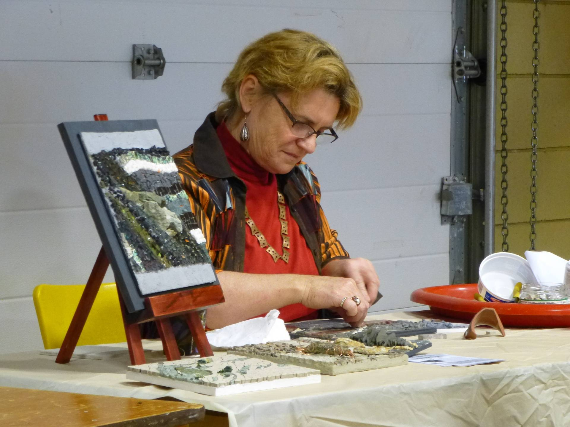 Mosaic Art Demo by Heather Vollans