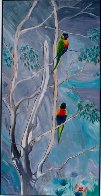 Title       :  Two Lorikeets looking over me