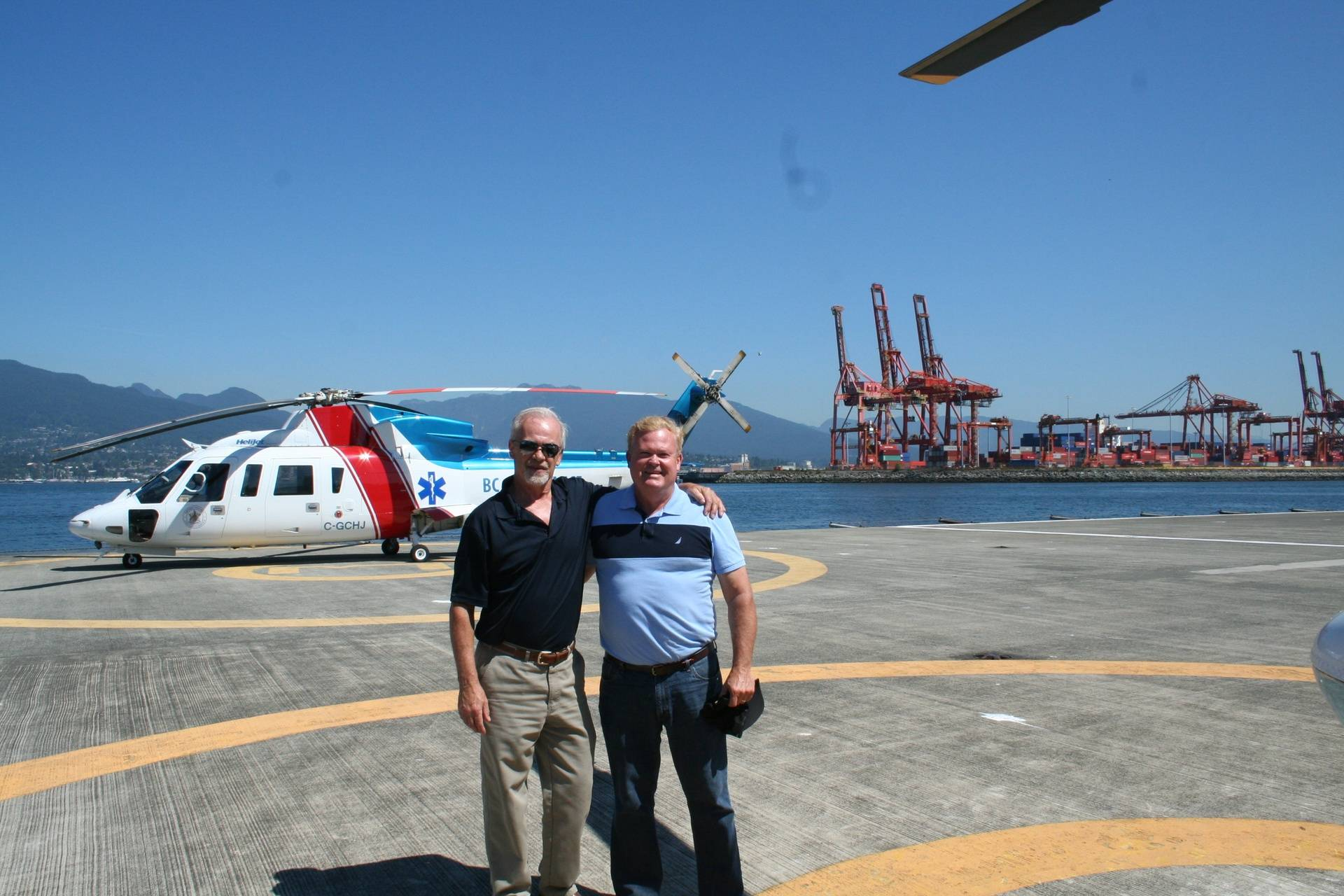 Visiting Helijet project site!