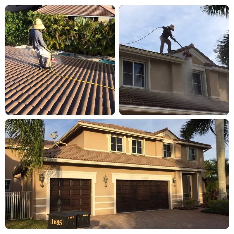 House and roof pressure cleaning