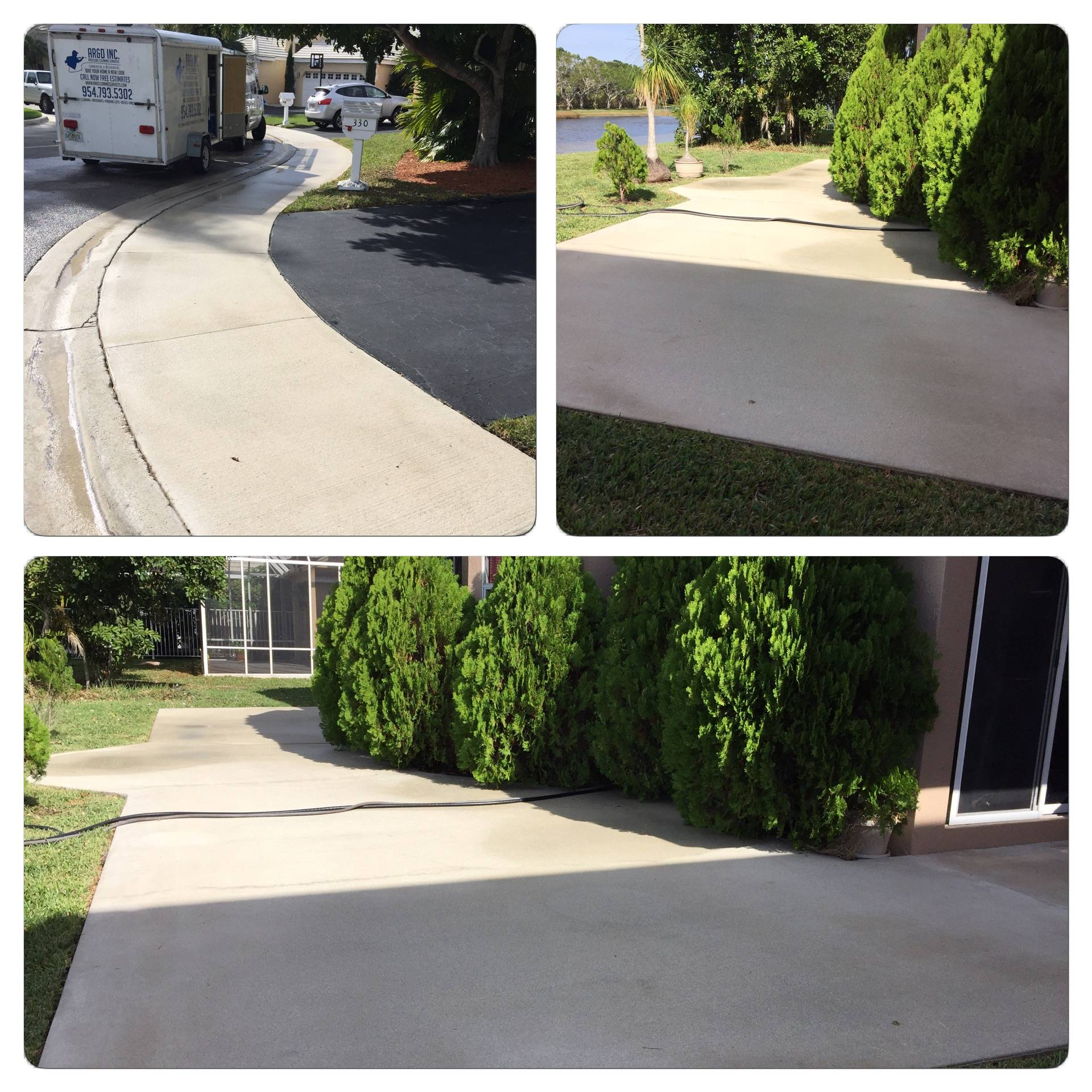 Pressure Cleaning (Sidewalks and Patio)