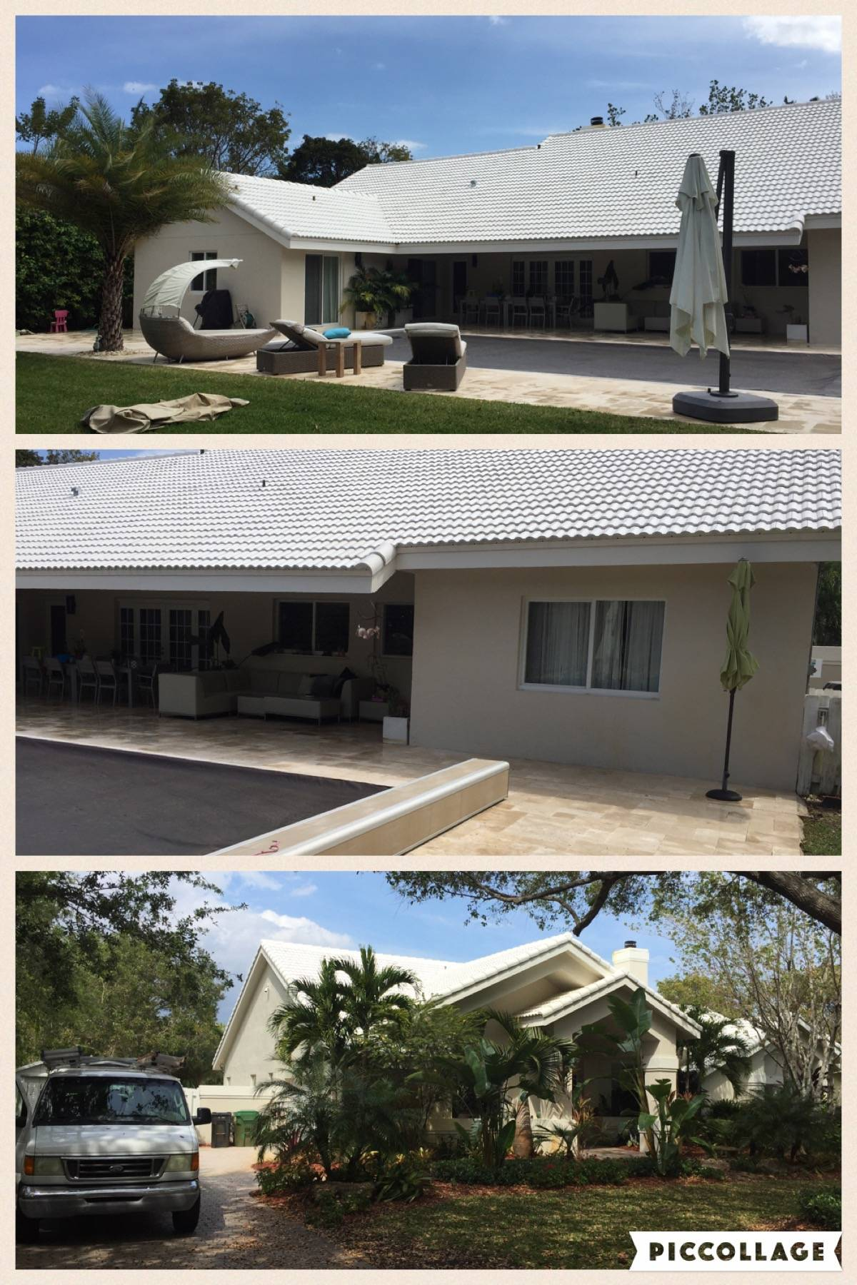 Roof and Patio pressure cleaning