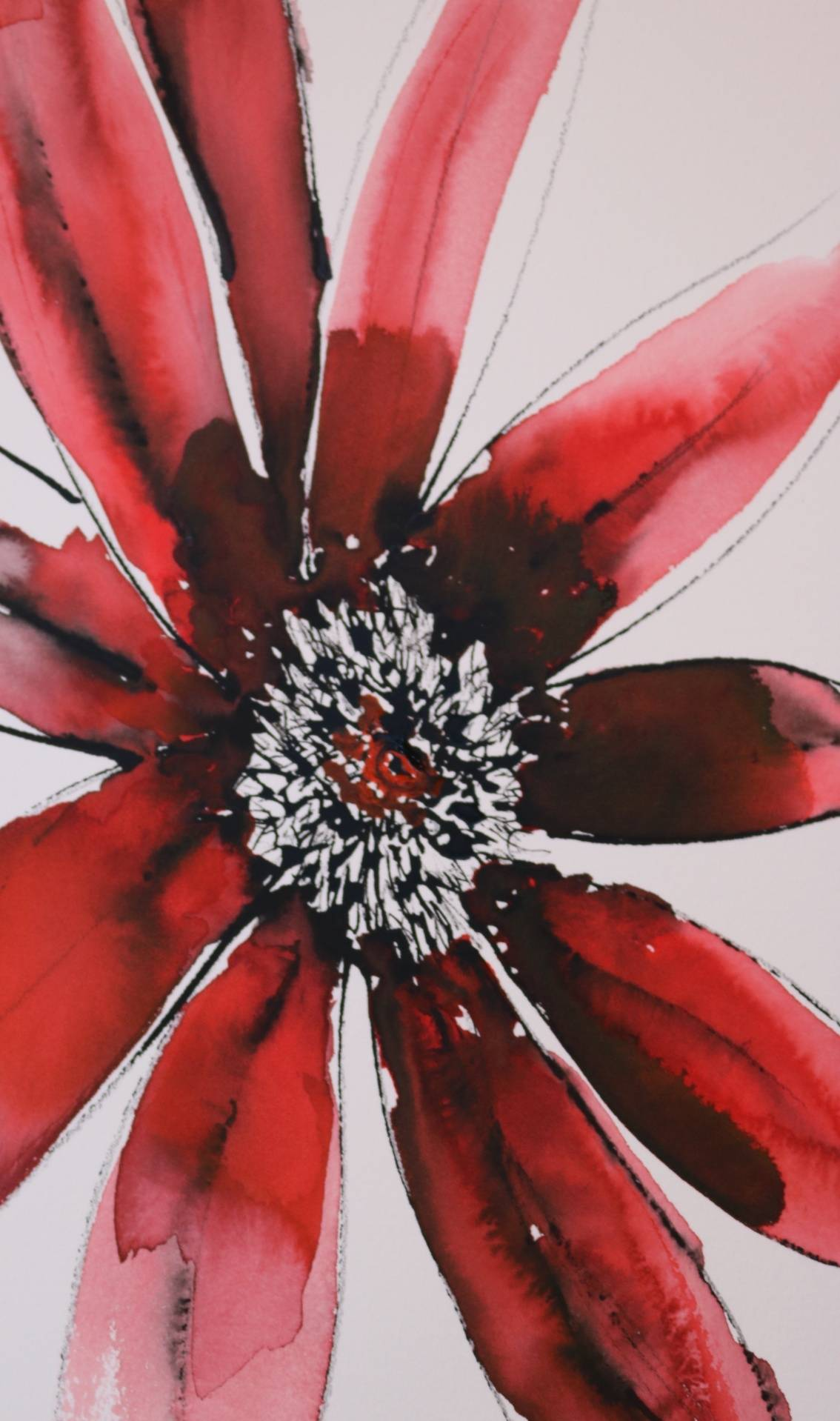 Flowers Study in Ink 3