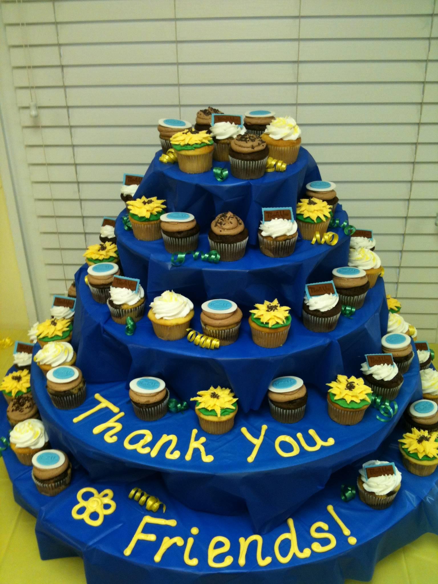 Volunteer Appreciation Cupcake Display