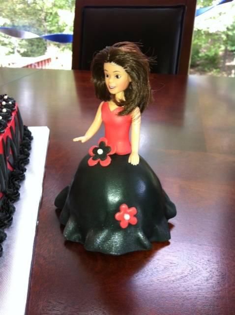 3-D Miniature Barbie Cake