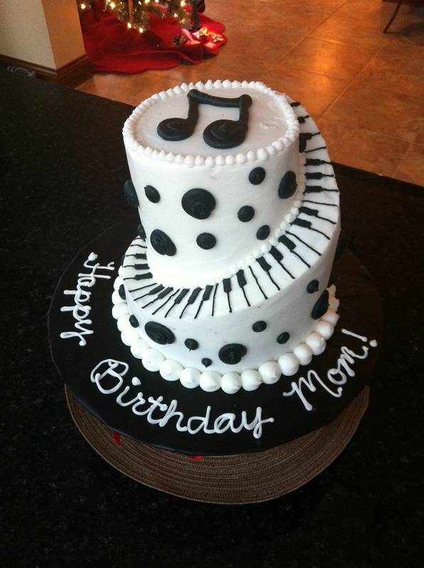 Stacked Spiral Piano Cake