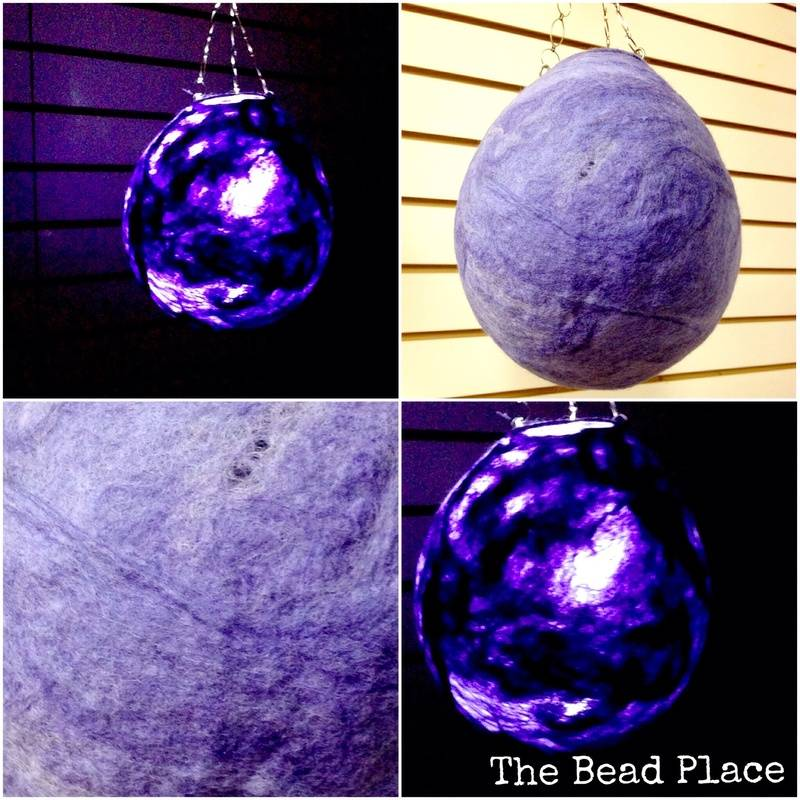 Wet Felted Lantern