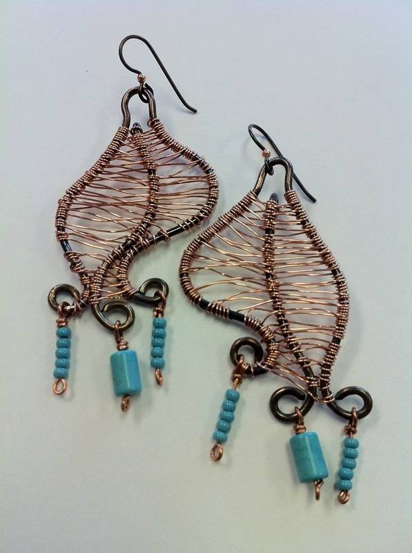 Wire Weaving Earrings