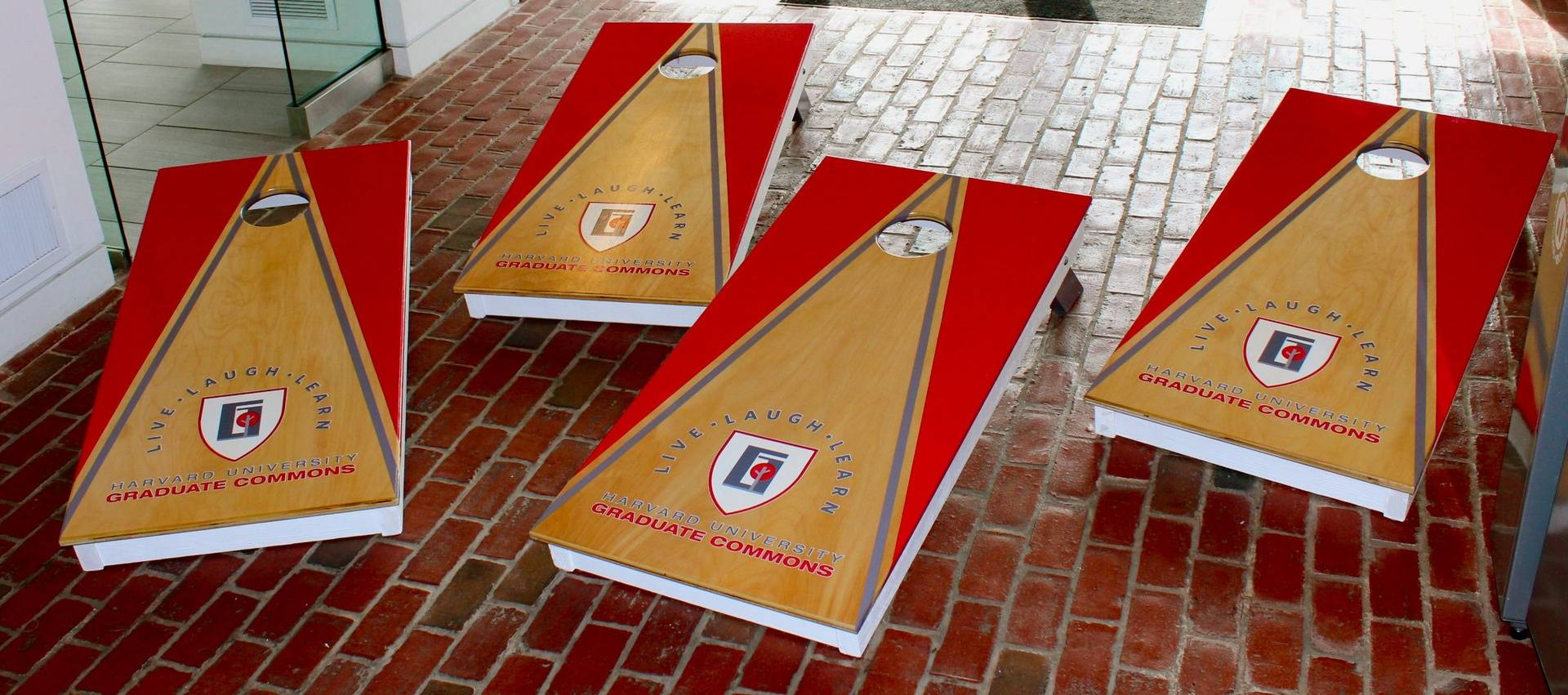 Harvard Univeristy Custom Cornhole Set