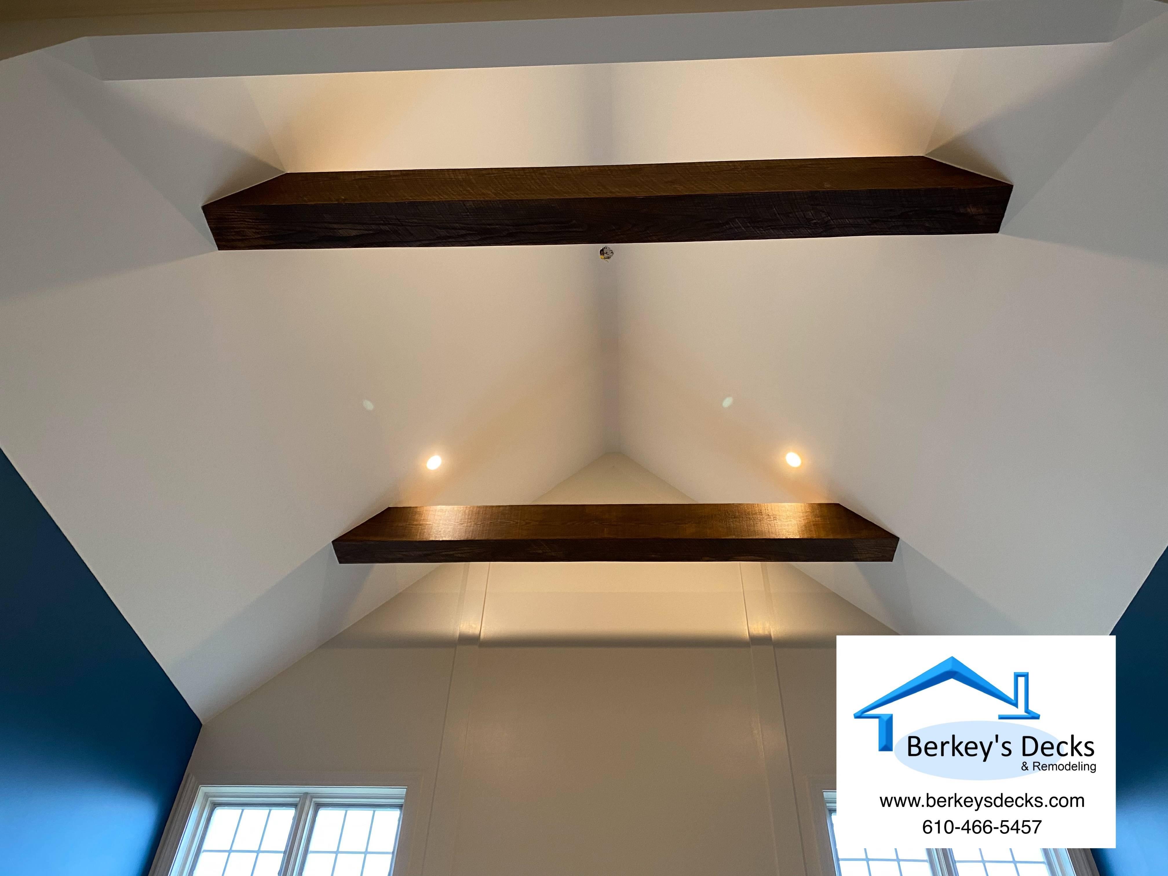 Custom made oak beams