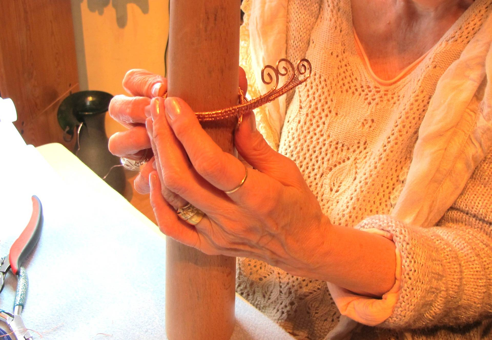 Shaping a Copper Bangle