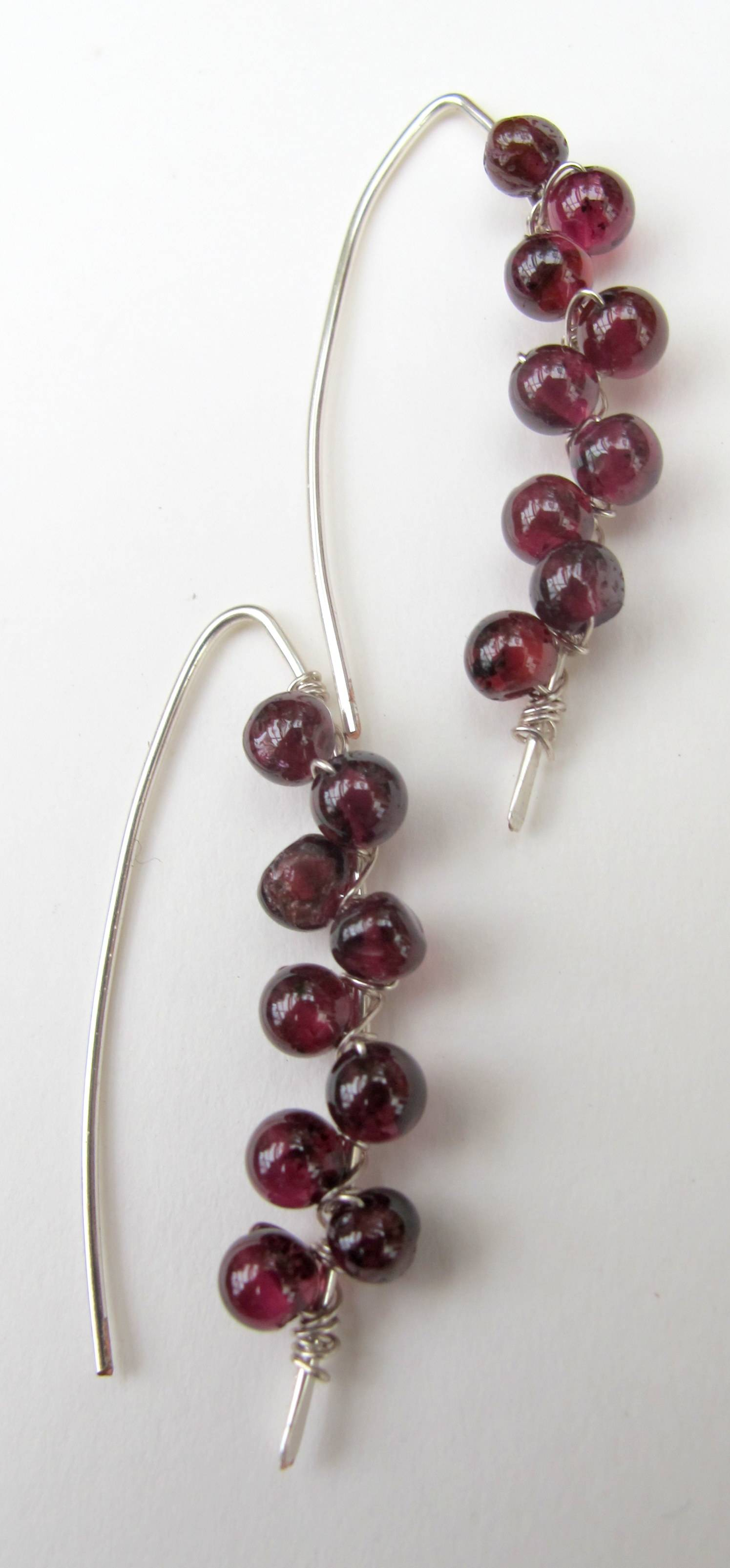 Beaded Stick Earrings