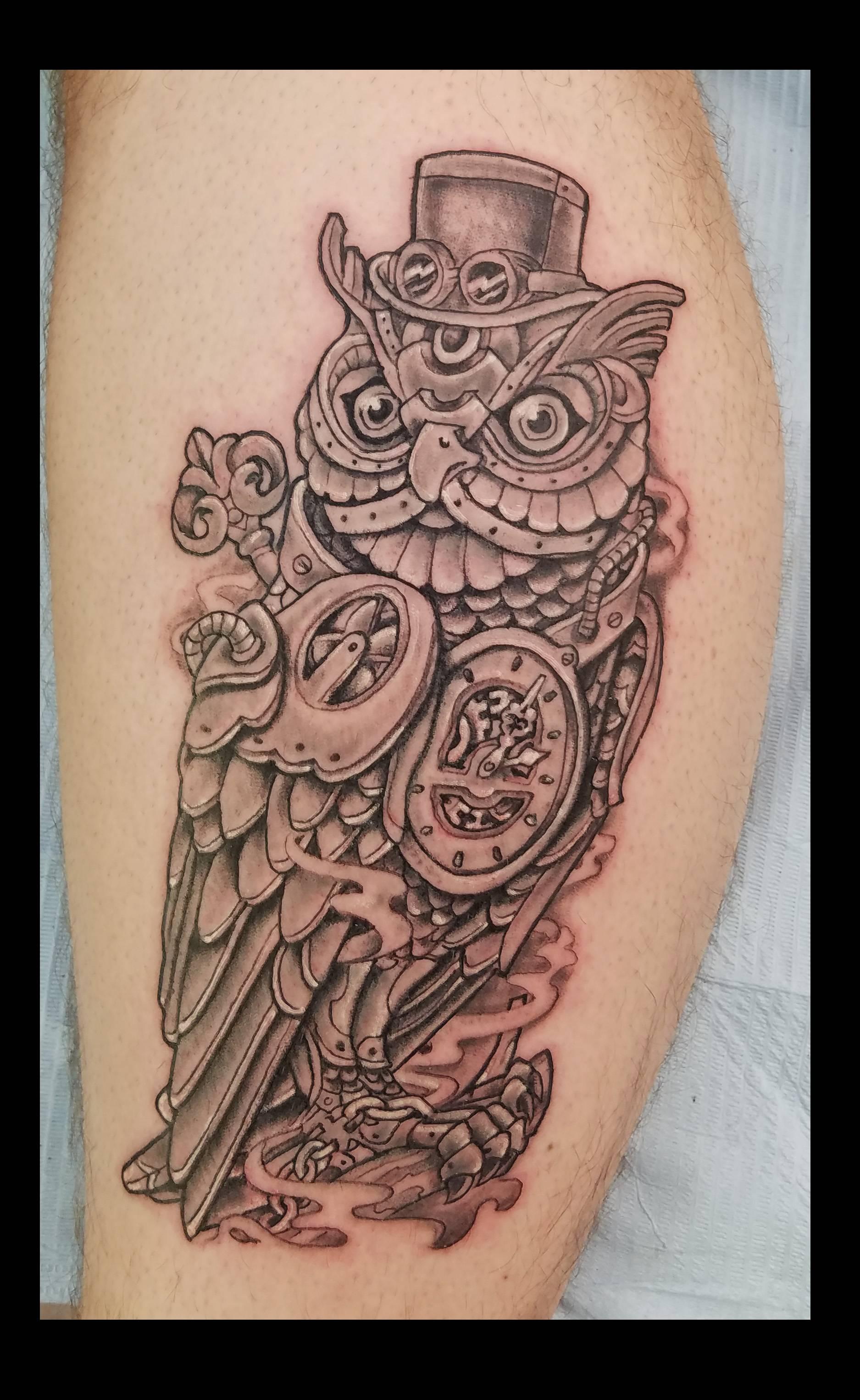 Mechanical Owl  tattoo by ruben