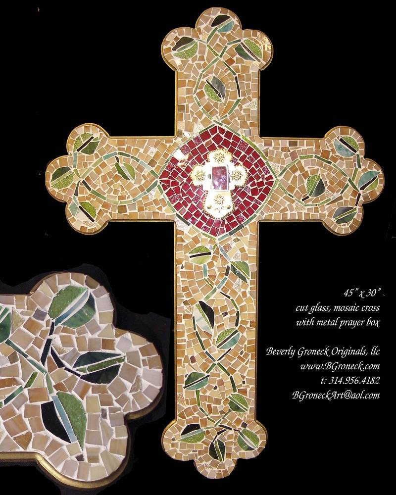 mosaic cross w prayer box