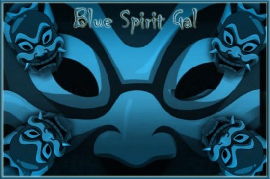 Blue Spirit Gal Wallpaper by LoraElric