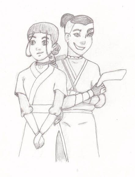 Katara & Sokka sketch by BSG