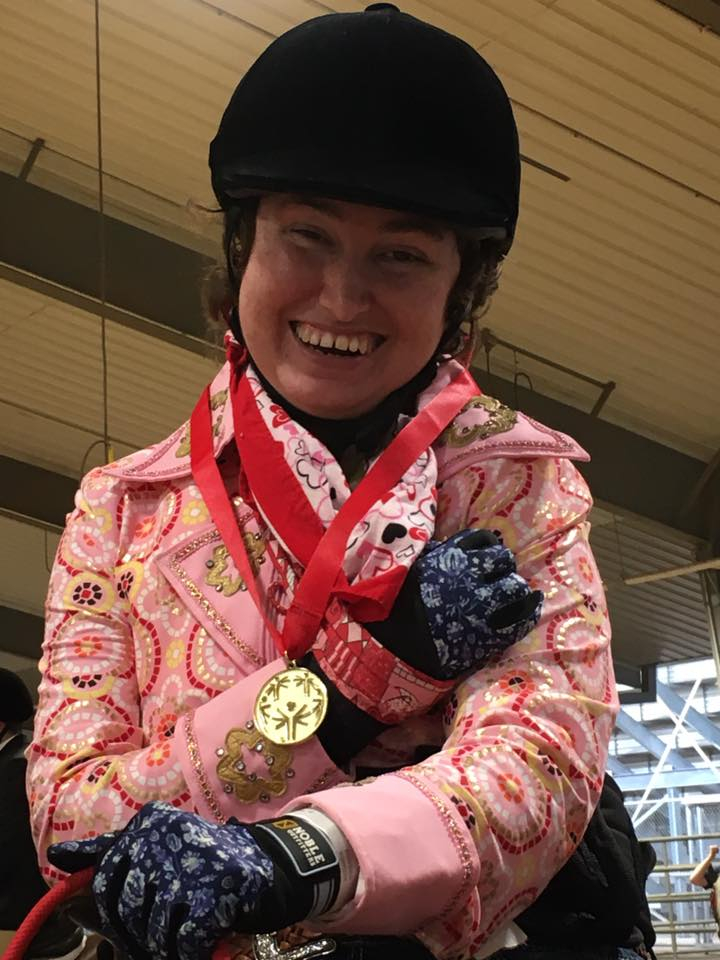 Victoria with her gold medal.