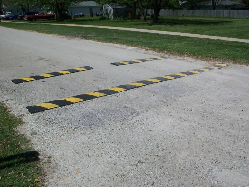 Speed Bumps at Second Street Gate