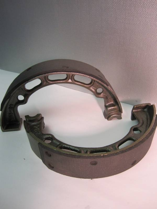 Relined Harley Davidson Motorcycle Brake Shoes