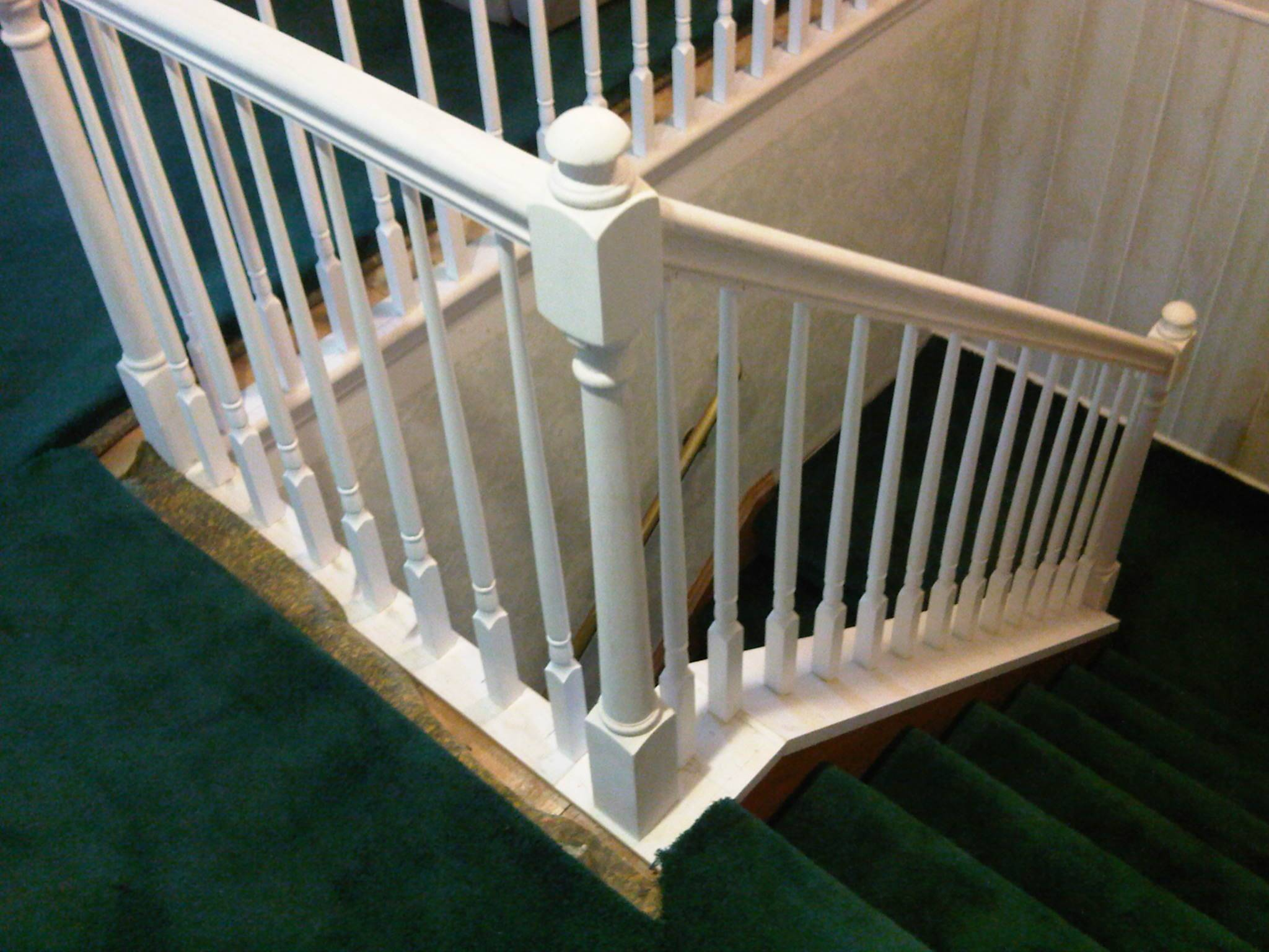 Oak Railing Painted White 2
