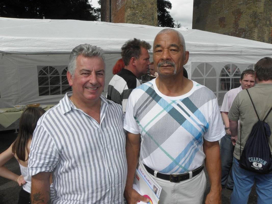 Tony 'Titch' White and Lennie Hurst